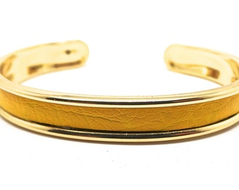 Yellow and gold Bangle Bracelet