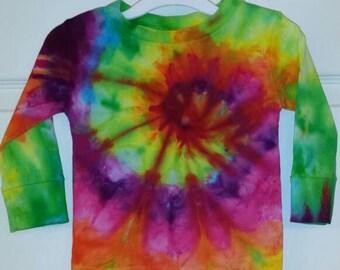 Tie dye rainbow 12m baby shirt