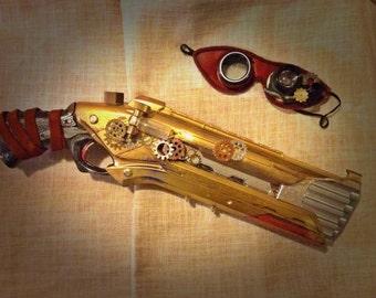 Steampunk Gun with Goggles