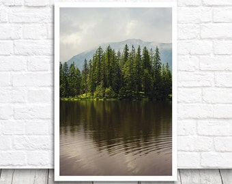Mountain Lake Print, Lake Photography, Nature Photography, Nature Print, Lake Photo Print, Digital Photo, Digital Print, Printable Photo