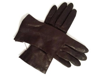 Fownes Gloves Brown Leather Ladies Accessories NWT New Unused
