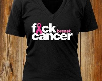F*CK BREAST CANCER  T-shirt. Breast Cancer Awareness. Breast Cancer Shirt. Hope fight cancer. Cancer Walk Shirt. Fight Cancer Shirt.