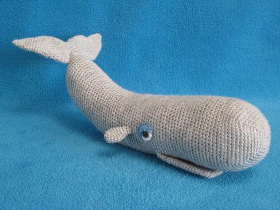 Amigurumi PDF CROCHET PATTERN Whale Toy Sea Animal Sperm ...