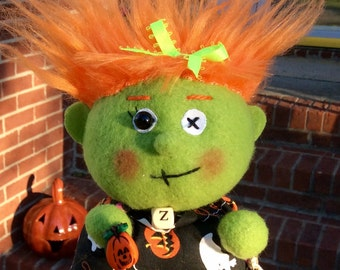 Adoptable one of kind Zombeiz Puff - Zombie Doll