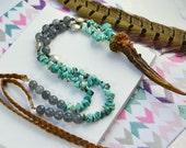 Style necklace beads Featured - horn pendant - vintage - Gem Stone Beads - deer horn - deer moult - Indian necklace