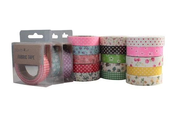 Fabric Masking Tape Adhesive Craft Washi Label Scrapbooking Gift wrapping