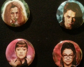Orphan black buttons or magnets