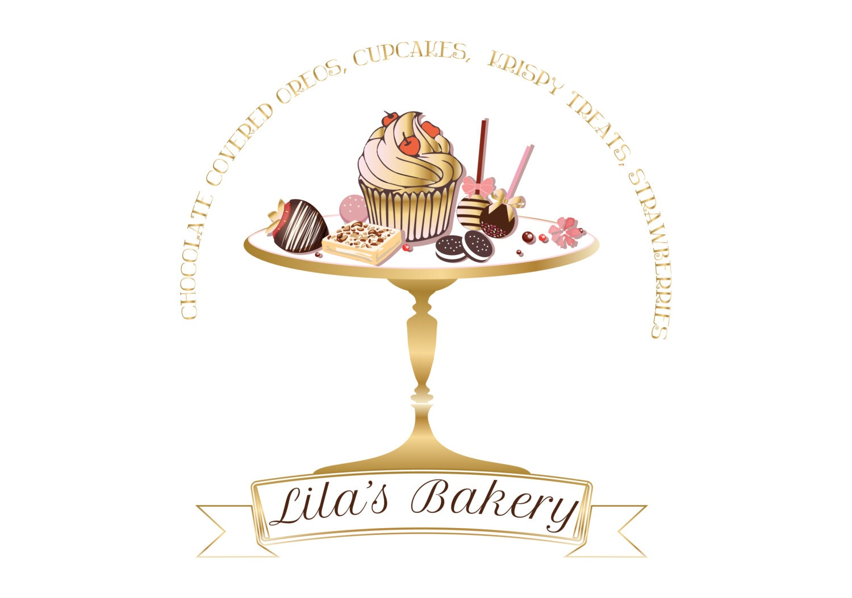 Design Your Own Cake Logo : DIGITAL Custom logo design cake bakery logo pink gold cake