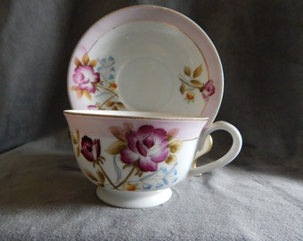 Vintage China Cup and Saucer made in Occupied Japan 1945-1952