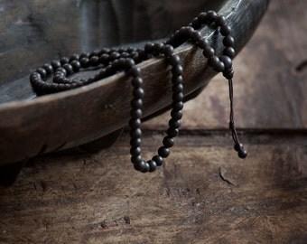 Abra Mala Bracelet – Wrist Mala, Wristband, Prayer Beads, Buddhist Bracelet, Japa Mala, Ebony