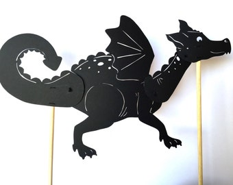 Dragon Shadow Puppet - Hand Cut