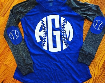 Baseball Monogram shirt with elbow patches