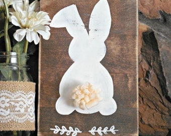 Easter bunny sign spring