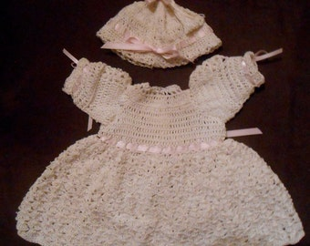 Hand Crocheted Doll Dress