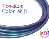 "5/8"" Poseidon Color Shift Polypro Hula Hoop Button collapse"