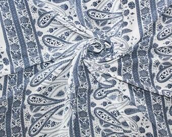 1 Meter Chiffon Fabric CH02B - Wonderful Paisley Ornament Embelishment