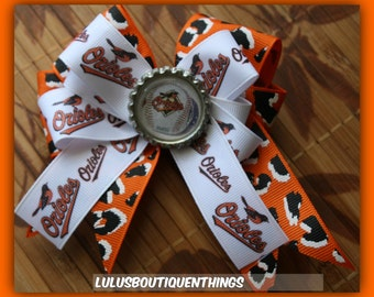 Baltimore Orioles hair clip (inspired)