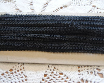 Black 1/2 inch Gimp/Sewing/Upholstery/8 yards total