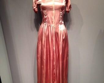 Pink Satin Robe