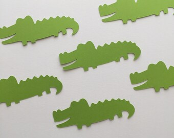 Alligator Confetti, Alligator Cutouts