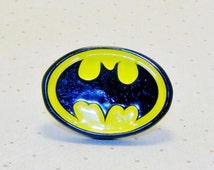 Large Batman Ring, Batman Jewelry, Superhero Ring, Character Ring, Childrens Rings, Childrens Jewelry, Kids Rings, Kids Jewelry