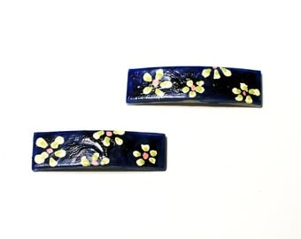 Mini HairClips | Barrettes | Hair Barrettes | Hair Accessory | Flowers for Hair Daisies | Hair Jewelry | Handpainted Hair Clips | Short Hair
