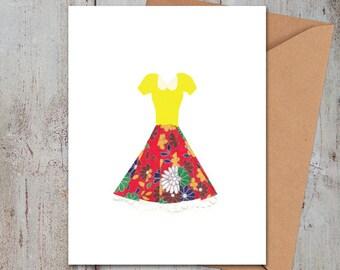 Yellow Dress Card