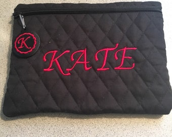 Embroidered Custom Cosmetic Bag