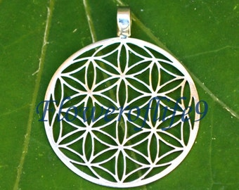 Flower of life pendant 1 1/8 (seven circles) - Stainless Steel