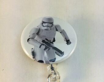 Clone trooper badge cover-star wars badge reel-star wars clip-star wars lanyard-retractable id