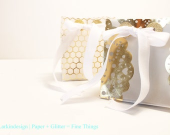Two Vellum Gift Bags, Party Favors