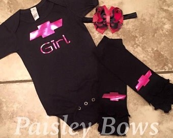 Black and pink 3pc set