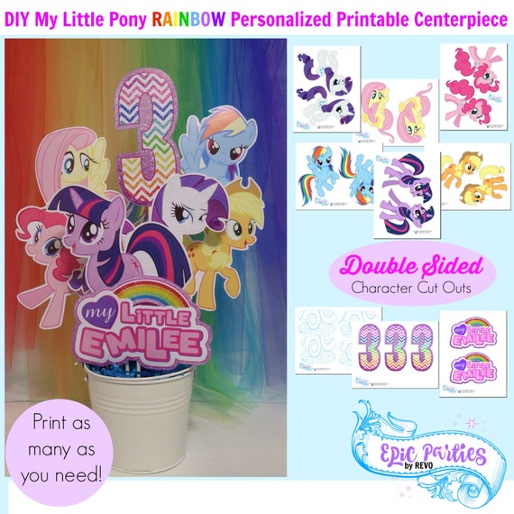 My Little Birthday Printable Little Pony Personalized