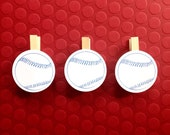 Baseball Clothespin 12 Party Decoration Clips Party Supplies Birthday / Baby Shower Clothes Pin Game / Photo Display Name Tag Sport Party