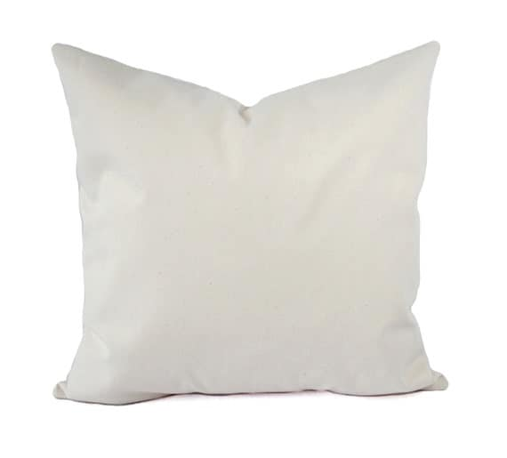 Two Solid Cream Pillow Covers Beige Throw Pillows Natural