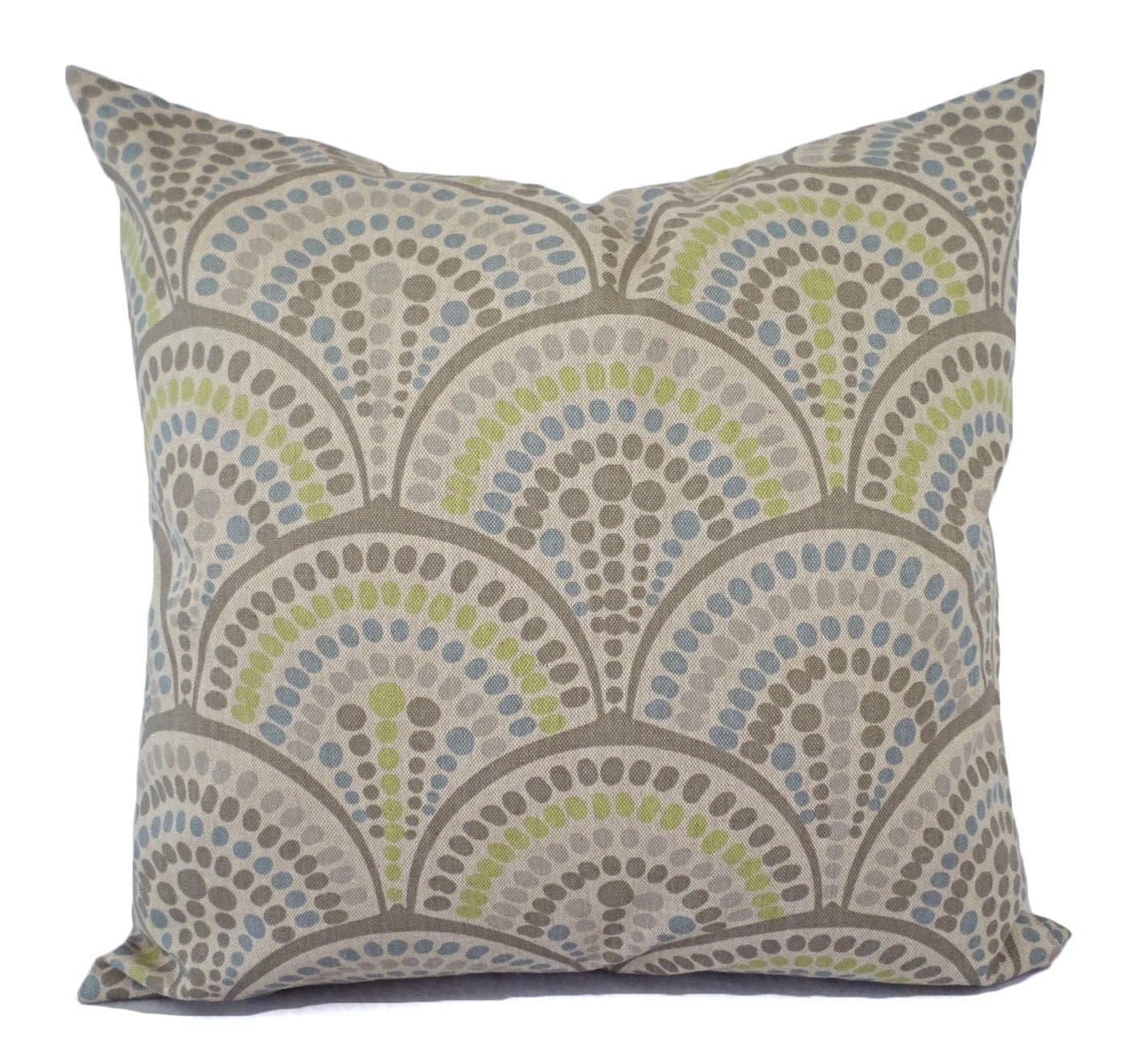 Decorative Pillows Blue Green : Two Brown Green and Blue Decorative Pillow Covers Two