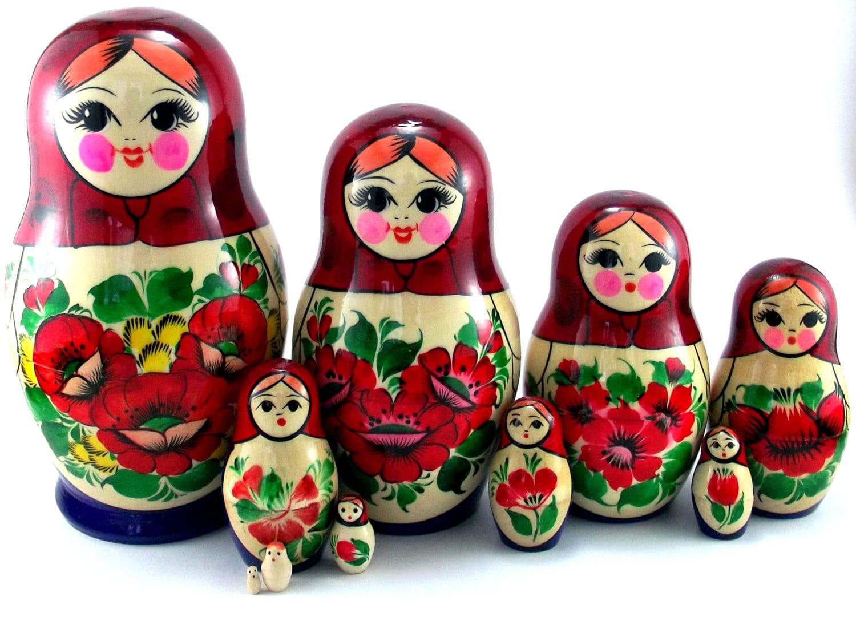 nesting dolls 10 pcs russian matryoshka doll babushka doll