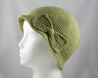 Cloche Hat in Sage Green Cancer Patients