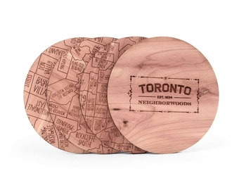 Toronto Map Coaster Set