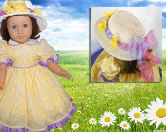 "Pretty summer dress for 18""doll."