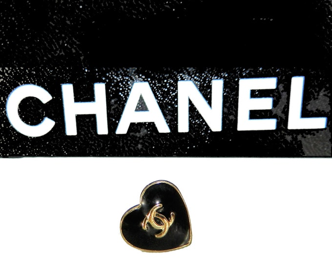 Authentic Coco Chanel SINGLE Earring, Chanel Yes No Heart Stud Earring, Designer Fashion, High End, Rare Chanel, 90s Vintage Jewelry
