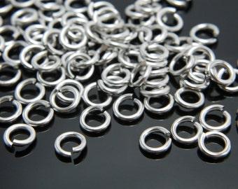 Jump ring, J22-R4, 50g, 1mm thick, Inner 3mm, Matte rhodium plated brass