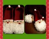 Crocheted Santa Slippers