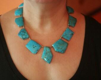 Federico Jimenez -Amazing Turquoise Sterling Silver Necklace!