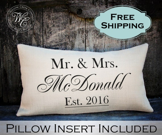 Wedding Gift Ideas For Close Friends: Wedding Gift Wedding Gifts Personalized Pillow Newlywed