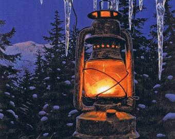 Lantern Light Print & Firelight Chapbook, Stephen Lyman Limited Edition Print