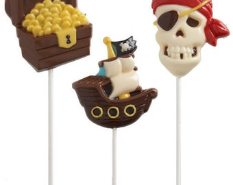 Pirate Theme Boys Birthday Party Favors Candy Chocolate Lollipop Mold