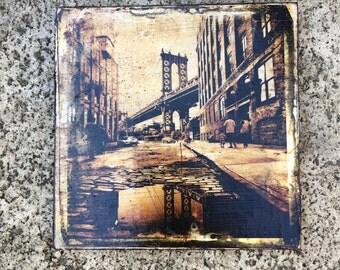 Manhattan Bridge- 5x5 in.