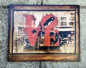 LOVE -  16x20 in.