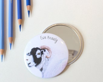 Ewe Beauty Sheep Pocket Mirror